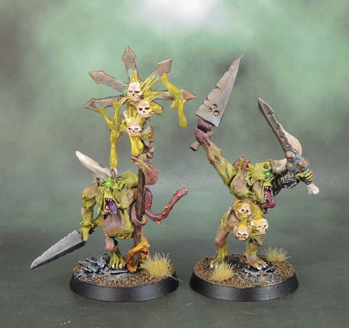 3.5 Wave Warhammer Plaguebearers of Nurgle Command 2007