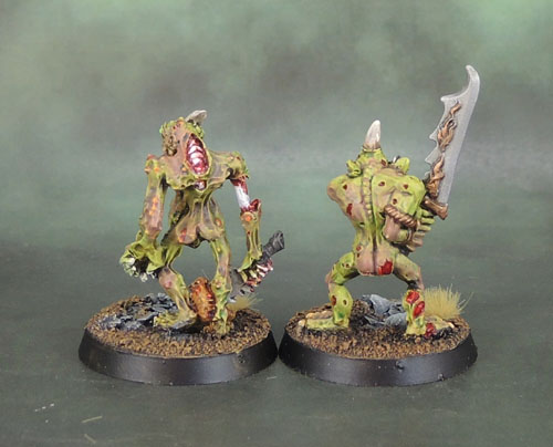 2nd Wave Plaguebearer of Nurgle 1995/6, 3rd Wave Warhammer Plaguebearers of Nurgle 2001
