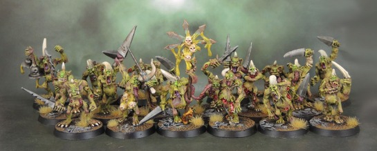 Realm of Chaos Lost and the Damned Original Oldhammer Plaguebearers Kev Adams, 1991, 2nd Wave Plaguebearers of Nurgle 1995/6, 3rd Wave Warhammer Plaguebearers of Nurgle 2001, 3.5 Wave Warhammer Plaguebearers of Nurgle Command 2007