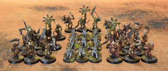 Plaguebearers of Nurgle and Wolves