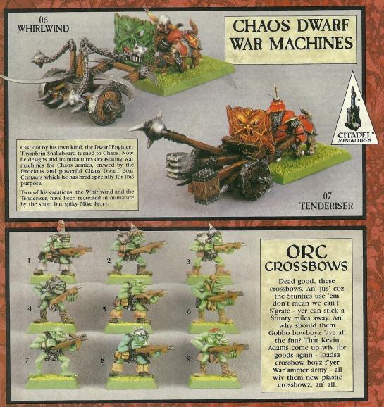 Chaos Dwarf Boar Centaur War Machines Oldhammer