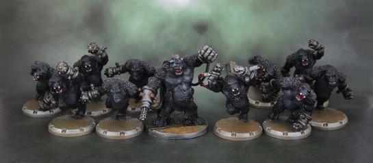 DUST Tactics: Axis Gorilla Kampfaffen, Marcus, Reaper Bones 80001 Ape-X
