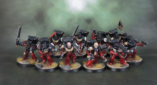 Flesh Tearers Space Marines Assault Squad