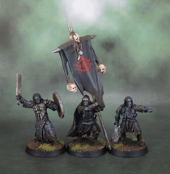 Shagrat, Mordor Black Uruk Commander and Mordor Uruk Banner - Lord of the Rings: SBG