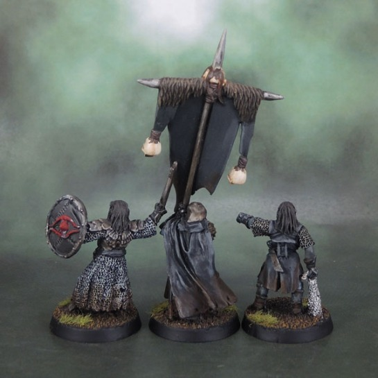 Shagrat, Mordor Black Uruk Commander and Mordor Uruk Banner - Lord of the Rings: SBG