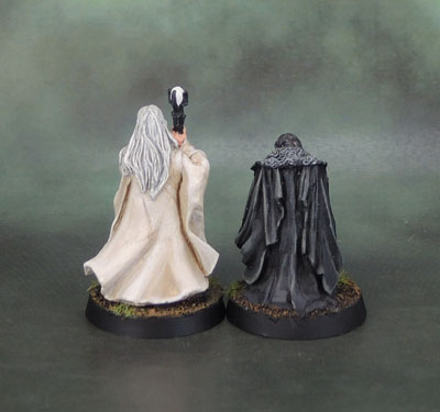 Saruman the White and Gríma Wormtongue. Lord of the Rings SBG