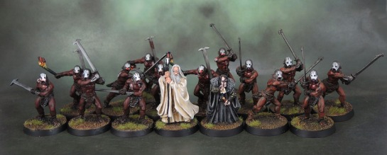 Saruman the White and Gríma Wormtongue. Uruk-Hai Berserkers of Isengard - Lord of the Rings: SBG