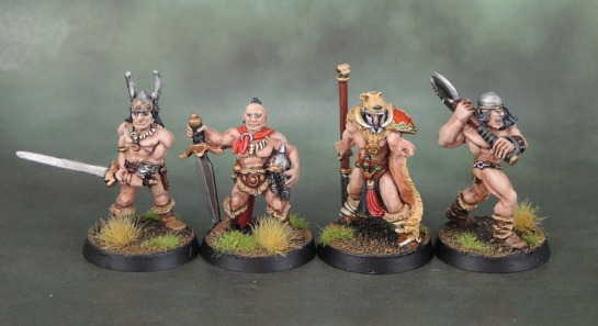 Chronopia Sons of Kronos Hunter, Heartbreaker Models, Citadel F3 Barbarians Oldhammer