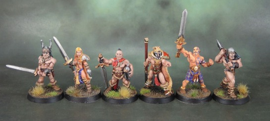 Chronopia Sons of Kronos Hunter, Blade Maiden, Barbarian Heartbreaker Models, Citadel F3 Barbarians Oldhammer, HM1058 Brabarian Fighters II, Harlequin Miniatures, Black Tree Design, Kev White