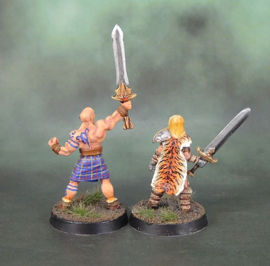 Chronopia Sons of Kronos Blade Maiden, Barbarian Heartbreaker Models, HM1058 Brabarian Fighters II, Harlequin Miniatures, Black Tree Design, Kev White