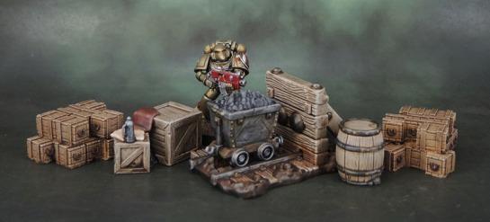 Shadows of Brimstone: Mine Terrain, Scotia Grendel 1007 Crates