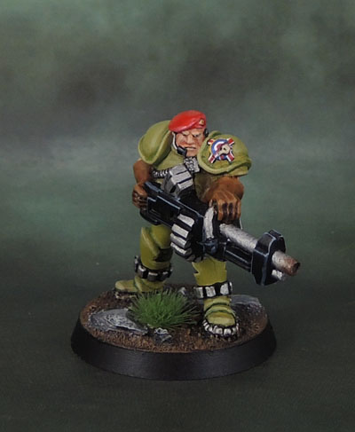 WarZone 1st Edition Warzone Imperial Blood Berets HMG Specialist: TG9806PB, Heartbreaker Hobbies