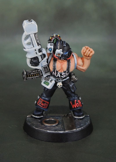 Warzone 1st Edition Cybertronic Chasseur Hero with LMG Conversion