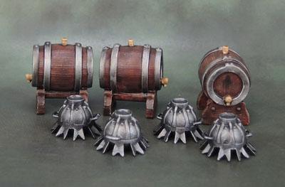 Uruk-Hai Siege Bombs, Wizkids Keg Barrels