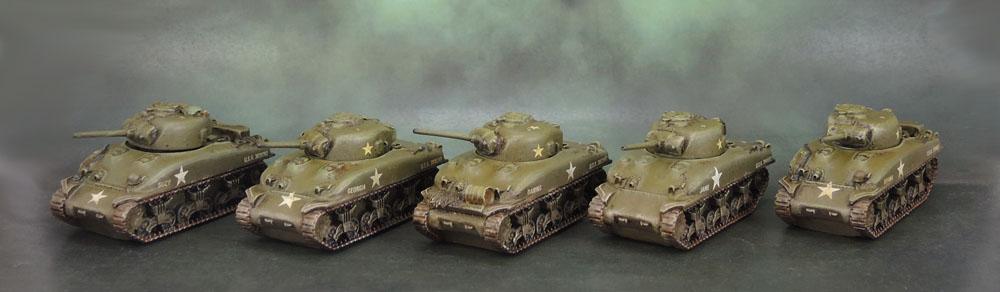 Flames of War M4 Sherman Tank Platoons (Battlefront Miniatures