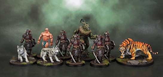 Conan Kickstarter's Black Dragons, Wolves, Baal-Pteor, Demon of the Earth, Giant TIger