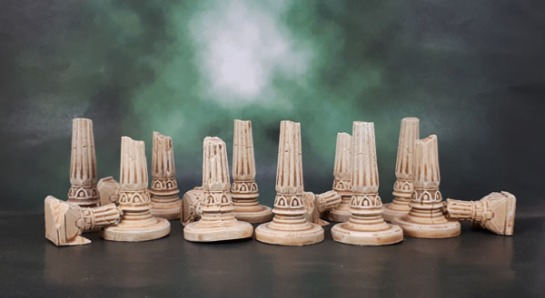 Mythic Battles: Pantheon - 3D Terrain Set - Broken Columns