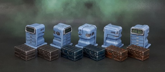 Star Saga: Tool Boxes and Tech Drawers Terminals Scatter Terrain