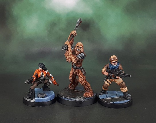 Star Wars Imperial Assault: Jyn Odan, Fenn Signis, Gaarkhan the Wookiee.
