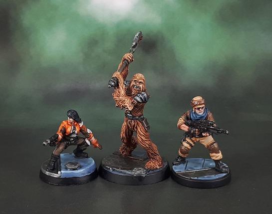 Star Wars Imperial Assault: Jyn Odan, Fenn Signis, Gaarkhan the Wookiee.