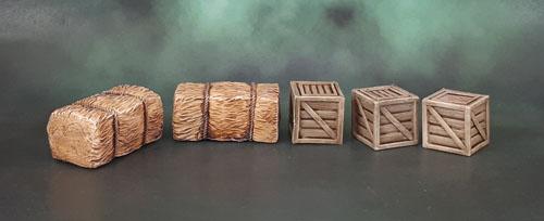 Mantic Terrain Crate, Hay Bales, Boxes, Crates