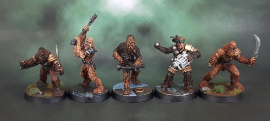 Star Wars Imperial Assault Chewbacca, Drokkatta, Gaarkhan, Wookiee Warriors