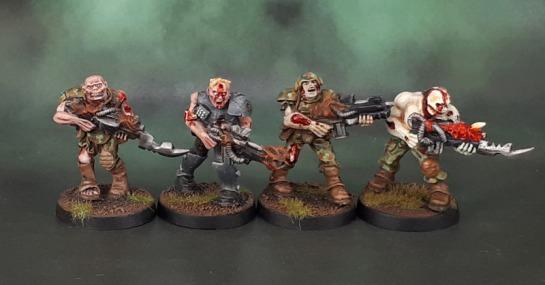 TG9505PB: Warzone Dark Legion Undead Legionnaires, Poxwalkers