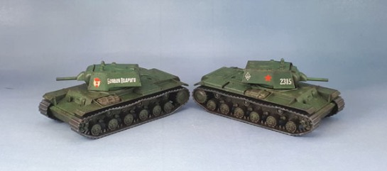 Zvezda Soviet KV-1 Tanks 1/100