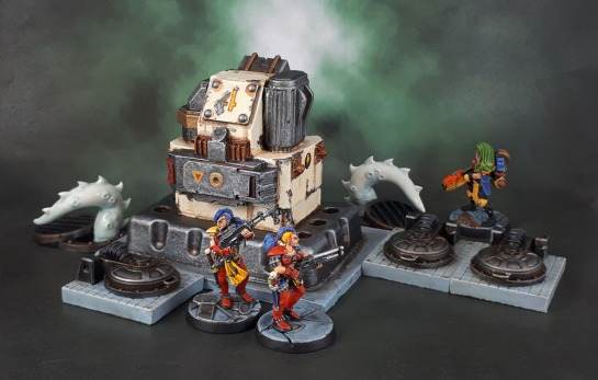 Necromunda 2018 Sump Monster, Oldhammer Necromunda Escher, Scotia grendel 10040 - Sci-Fi Accessories Hatches, Necromunda Terrain, Kill-Team Scenery