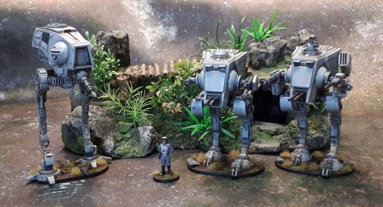Star Wars Imperial Assault General Veers, AT-ST, AT-DP