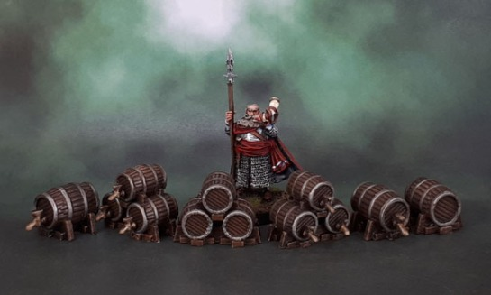 Mantic Terrain Crate, Keg Barrels