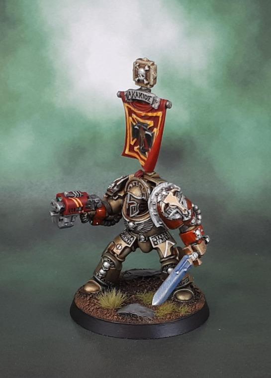 Minotaurs Space Marines - Terminator Sergeant Akakios, Puppetswar