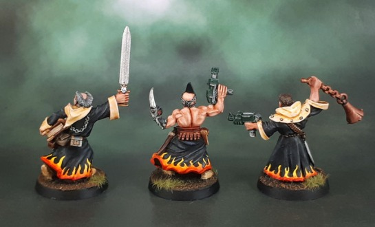 Imperial Preacher 1 (1997), Chaos Cultist (1999), (converted) Redemptionist (1997)