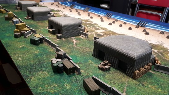 DUST Axis Heavy Laser Bunker, Allies Heavy Phaser Bunker, Deep Cut Studios Beach Mat 6x4