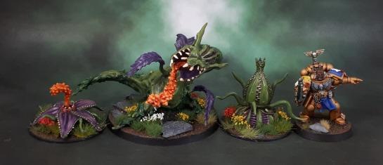 Reaper Bones 77505: Dragon Plant. Reaper Bones 77504: Death Star Lillies