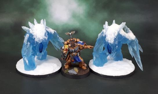Mantic Games Kings of War Vanguard Transparent Blue Resin Ice Elemental