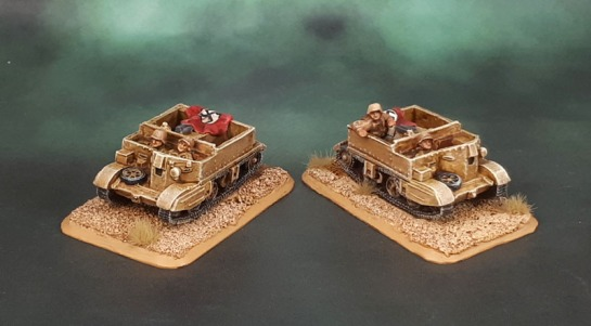 15mm Flames of War DAK Universal Carriers - Battlefront Miniatures