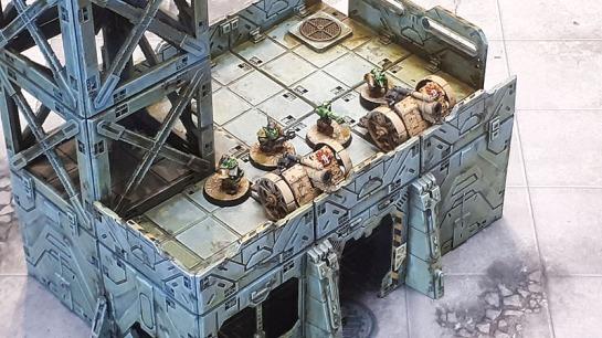 Ork Kannons, Mantic BattleZones Bunker