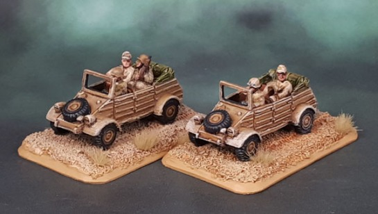 15mm Flames of War DAK Kübelwagen - Battlefront Miniatures