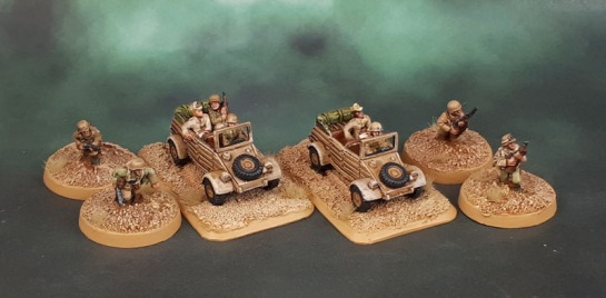 15mm Flames of War DAK Status Markers & Kübelwagen - Battlefront Miniatures