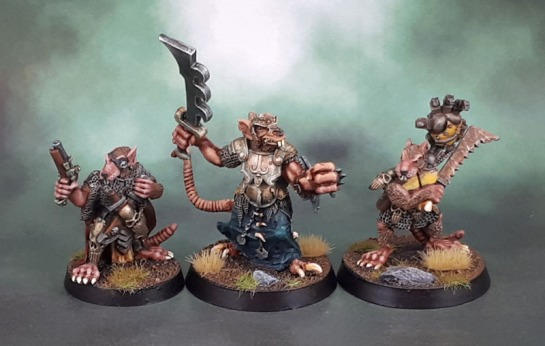 Heartbreaker Were-Rat Champion, Skaven, Chaz Elliot, Ratman Leader with pistol, Ratman Champion with mechanical hand, Tim Prow