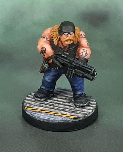 Grenadier Miniatures Future Warriors, Biker with Assault Carbine, Mark Copplestone,, EM-4 Miniatures, Mirilton Miniatures