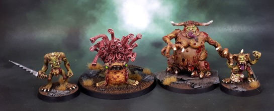 Realm of Chaos, Lost and the Damned, Nurgle Daemons, 1990, Beast of Nurgle, Plaguebearers, Plague Bearers, Great Unclean One, Original Oldhammer