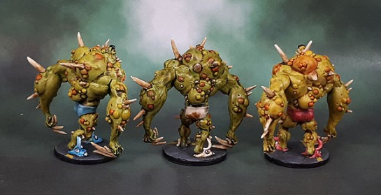Zombicide Toxic City Mall Expansion: Toxic Zombie Abominations