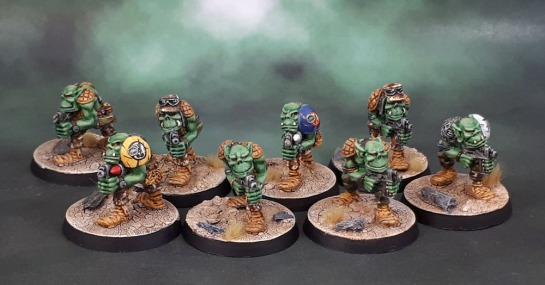 RTB02 Space Ork Raiders Troopers (1988) Kev Adams Rogue Trader Orks
