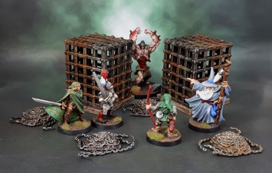 Wizkids Deep Cuts Miniatures Cage & Chains