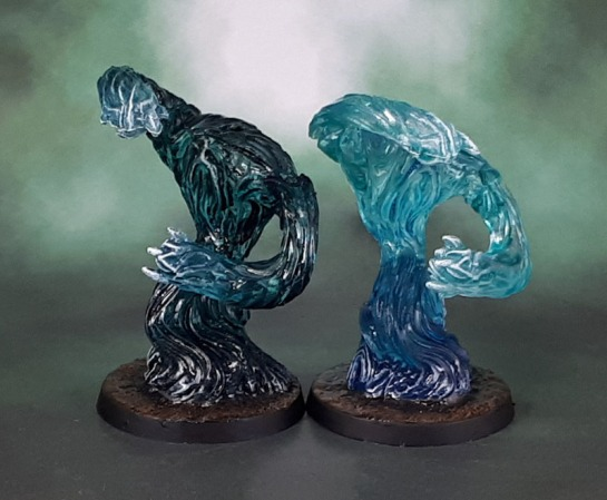 Pathfinder Deep Cuts: Medium Water Elementals, Citadel Contrast Paint