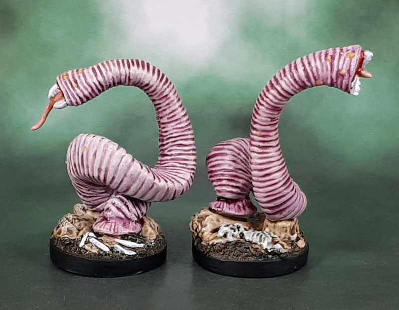 Reaper Bones 4: Dreadmere Expansion - 44031 Giant Leeches