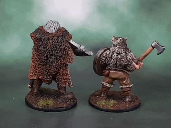 Wargames Foundry Vikings, Saga, VIK043 Viking Berserker Champions, VIK042 Viking Ulfheadnar Wolf Skin Berserkers