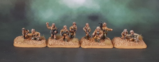 15mm Flames of War DAK Afrika Korps Platoon Command - Battlefront Miniatures